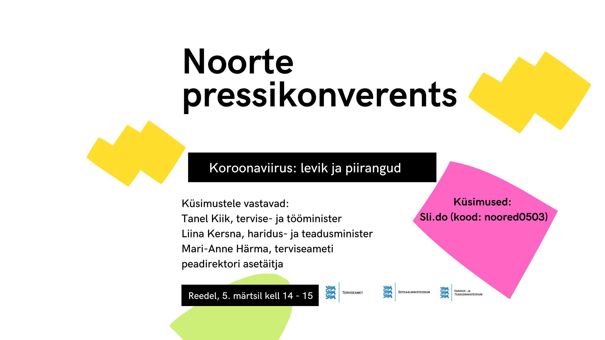Noorte pressikonverents juba 5. märtsil